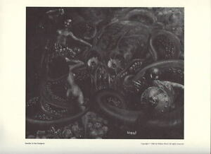 Collectibles Comics 1980 National Cartoonists Society Dweller In The Dungeon Print By Wallace Wood