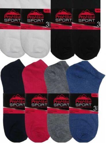 3 x Mens//Women//Ladies Sport Hike Cotton Trainer//Ankle//Anklet Multipack Socks