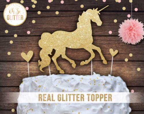 Unicorn cake topper licorne Licorne Gâteau paillettes cake topper Unicorn Party