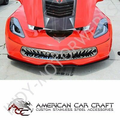 C7 CORVETTE STINGRAY FRONT SHARK TOOTH GRILLE POLISHED STAINLESS GRILL