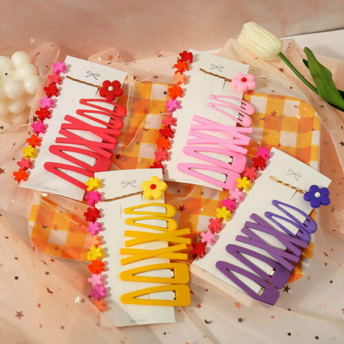 17Pcs Glitter Hairpins Snap Hair Clip for Kids Girl Metal Barrettes BB Clips