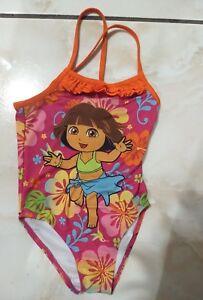 f926bb0a5de90 Nickelodeon Dora the Explorer Boots Pink One Piece Swimsuit Ruflle ...