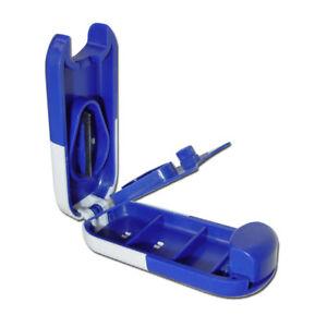Kombi-Tablettenteiler-Tablettendose-Pillendose-blau-weiss-mit-Tablettenfach