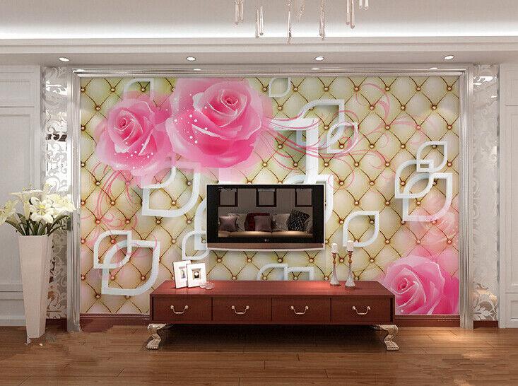 3D Hübsche Rosa Rose 83 83 83 Tapete Wandgemälde Tapete Tapeten Bild Familie DE 073bde