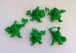 Set-of-5-Dwarf-Warriors-Plastic-Toy-Soldier-54mm-1-32-Fantasy-Battles-Tehnolog