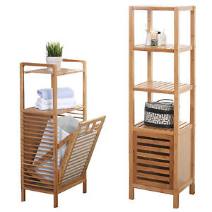 badezimmer set narita badschrank standregal w schekorb bambus ebay. Black Bedroom Furniture Sets. Home Design Ideas