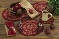 Table Runner 34 L - Winesap Braided By Park Designs - Kitchen Dining Burgundy