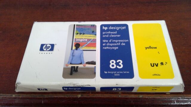 NEW GENUINE HP 83 YELLOW Printhead/Cleaner C4963A  2017