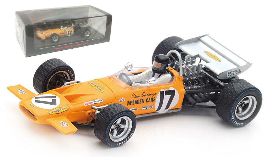barato y de alta calidad Spark S4844 McLaren M14A  17 6th francés francés francés GP 1970-dan Gurney 1 43 Escala  saludable