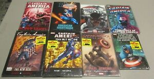Captain-America-HC-TPB-Lot-of-8-Book-American-Nightmare-New-Deal-Marvel-Avengers
