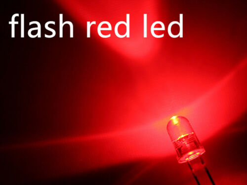 1 corazón parpadeante 3mm 5mm LED en naranja azul amarillo rojo verde blanco de ogeled