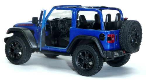 2018 Modellauto Jeep Wrangler Rubicon ca.12,5 cm blau offen Neuware von Kinsmart