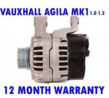 VAUXHALL AGILA MK1 MKI 1.0 1.2 12V 16V HATCHBACK 2000-2008 RMFD ALTERNATOR