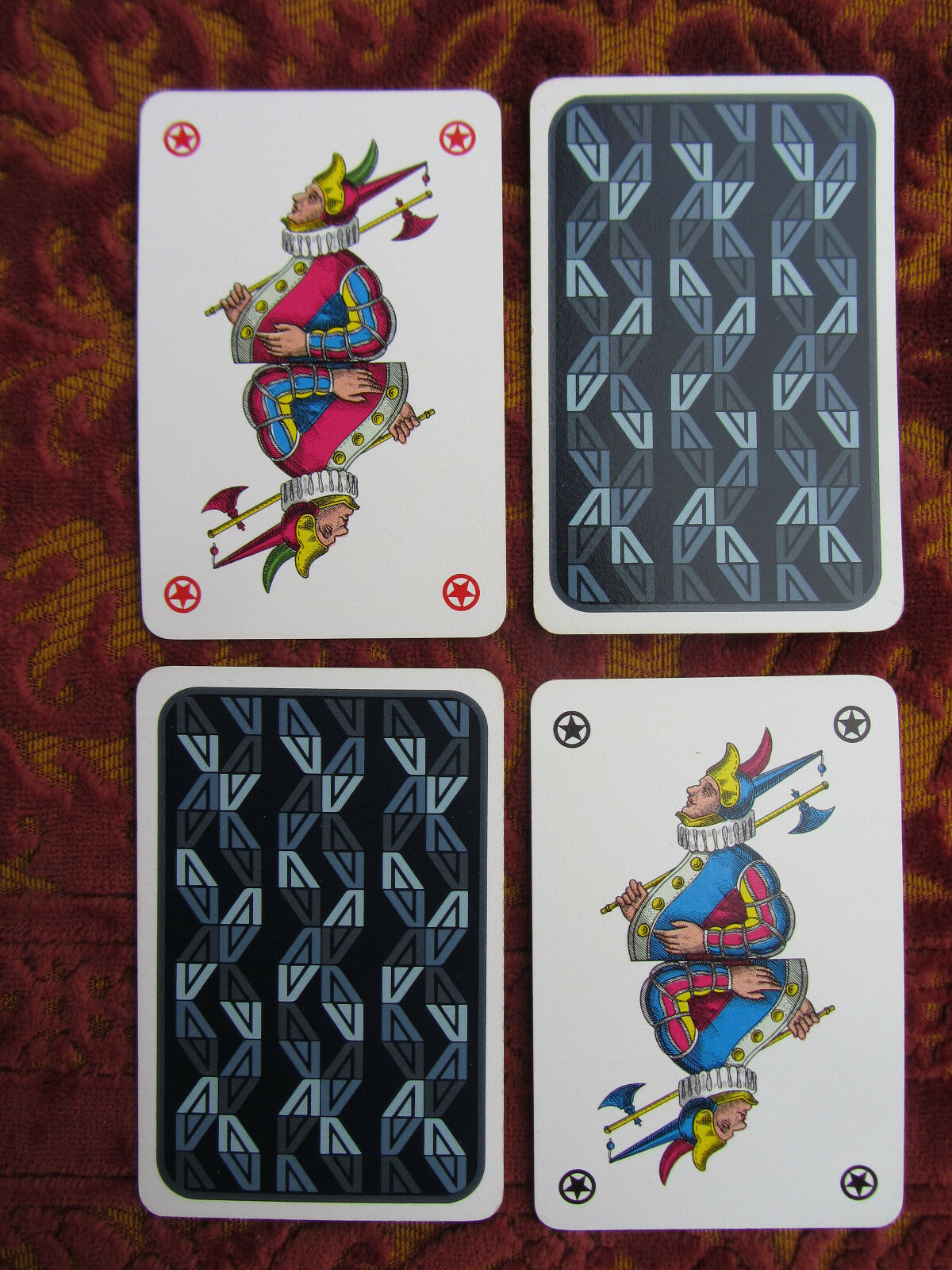 ANNI '70-CARTE DA GIOCO ALITALIA-FIGURE PARTICOLARI-70s UNUSUAL PLAYING CARDS