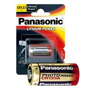 200x Photobatterie von Panasonic CR123A Foto Batterien Lithium CR123 Blisterpack