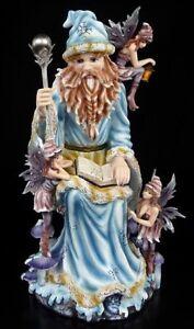 Zauberer-Figur-mit-Elfen-Wonderland-Statue-Deko-Fantasy