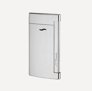 NEW-ST-Dupont-Slim-7-Flat-Flame-Torch-Jet-Lighter-Shiny-Chrome-027713