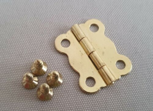 Or 10Pcs Charnières Craft Boîtes En Bois Cabine Porte Maison Boîte en bois avec Vis Set