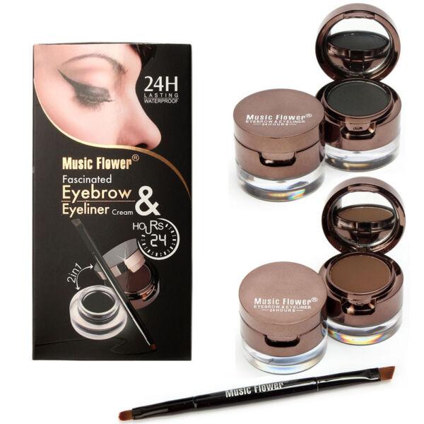 Makeup Set Gel Eyeliner Brown Black Eyebrow Powder 172988443450
