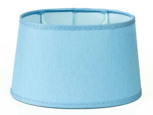 Lampenschirm-Elegant-hellblau-Oval-Fuer-Tischlampen-Nachttischlampen-modern