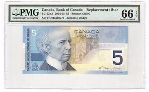Canada-5-2004-05-BC-62bA-PMG-Gem-UNC-66-EPQ-Replacement-Star