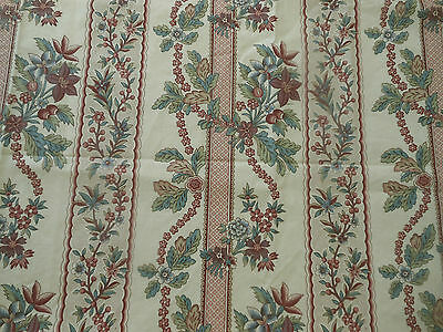 Vintage French Floral Garland Cotton Fabric #2 ~Lavender Blue Rose 18th pattern