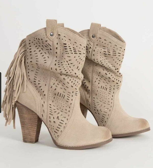 NEW NAUGHTY LACE MONKEY CAMEL LEAHTER LOVE LACE NAUGHTY CUTOUT FRINGE ANKLE Stiefel BOOTIES 9 6585e2