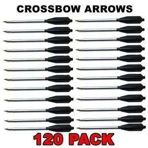 GREY 48 ALUMINUM METAL BOLTS ARROWS FOR 50 /& 80 LB CROSSBOW ARCHERY