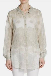 Calypso St. Barth Jennica Printed Cotton Shirt XS NWT