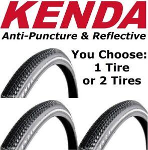 "1 or 2-Pack Kenda Kwick Trax 26"" x 1.25"" Anti Puncture Reflective MTB Bike Tire"