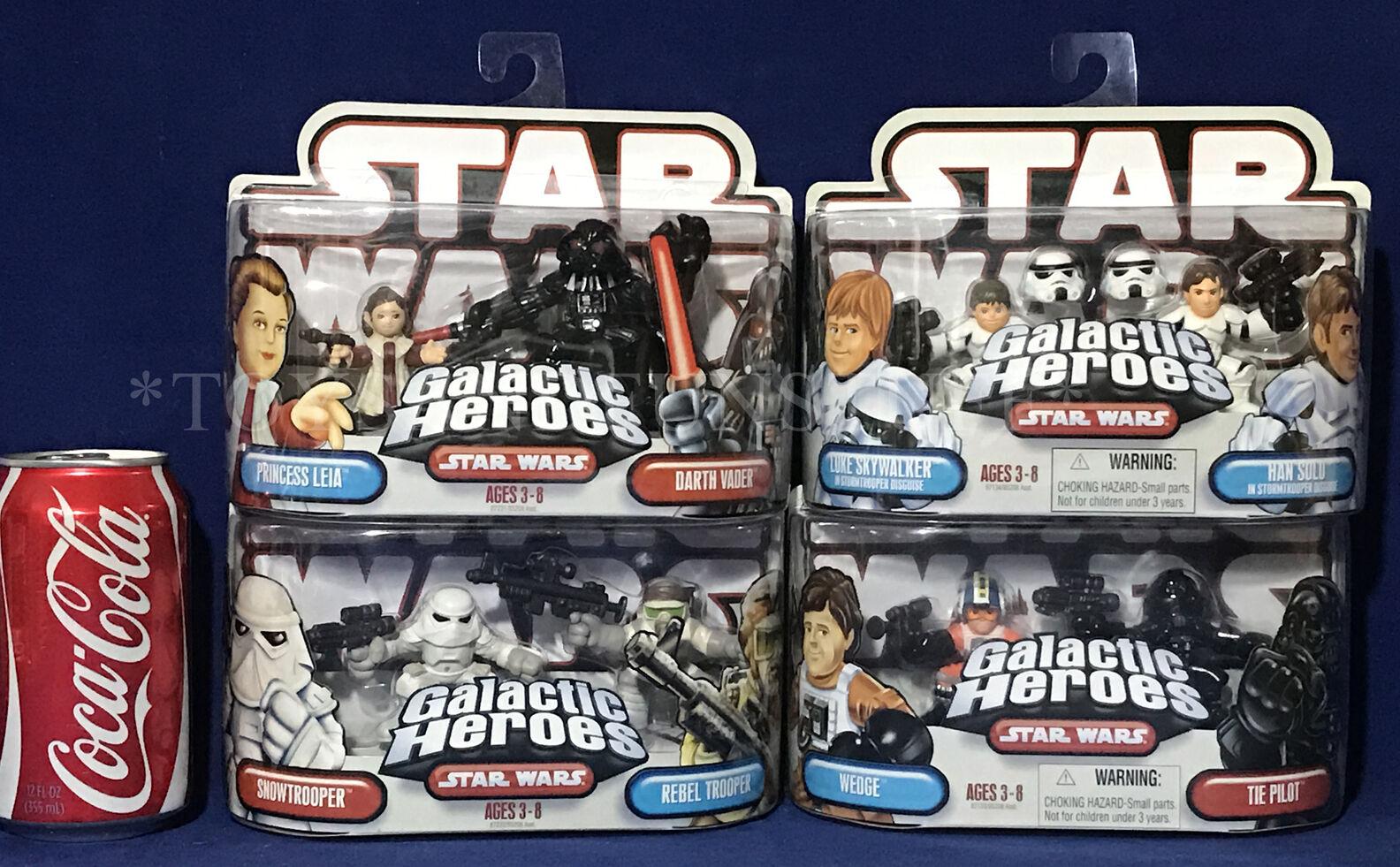 Neue star - wars - galaktischen helden menge darth vader leia luke han stormtrooper keil
