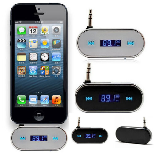 Black Delicate Wireless 3.5mm Car LCD FM Transmitter For Samsung iPhone 6