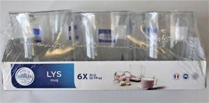 Duralex Lys tazas de café - 310 Ml (10 7/8 OZ) Conjunto de 6