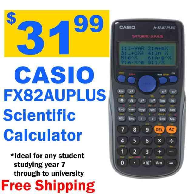 New Casio FX82AU PLUS II  FX-82au plus II fx 82AU plus II Scientific Calculator