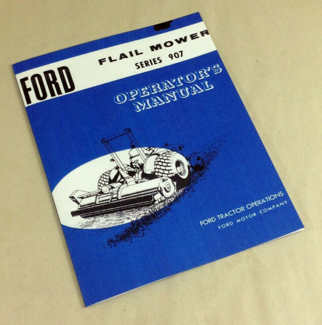 ford flail mower series 907 operators owners manual 5 6 7 foot 22 rh ebay com Instruction Manual Instruction Manual