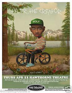 tyler the creator 2013 portland concert tour poster odd future