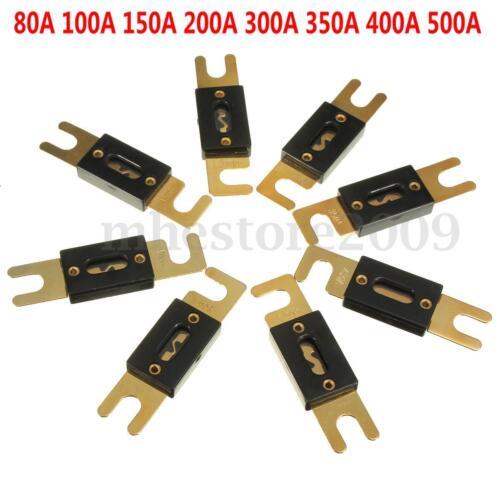 Car Audio Stero ANL Fuse Holder 80A 100A 150A 200A 300A 350A 400A 500A AMP Gold