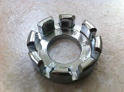 Fits spokes 14 AND 15 gauge Bicycle round spoke wrench CHROME