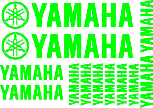 14 x YAMAHA REPLACEMENT DECALS - SET OF 14 VINYL STICKERS / 17 DIFFERENT COLOURS