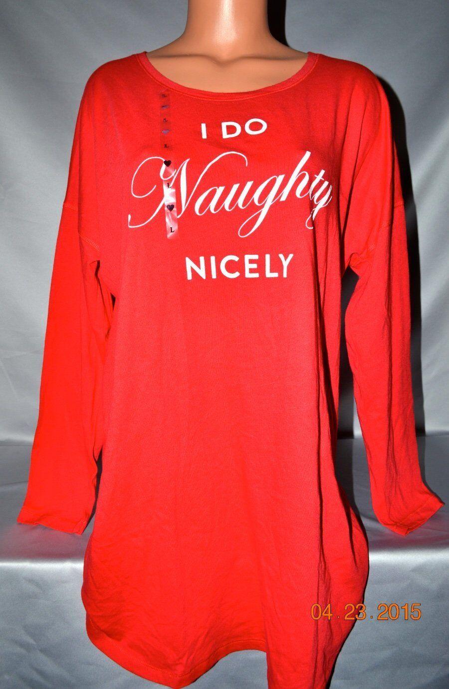 Victorias Secret I DO NAUGHTY NICELY Sleepshirt Night Gown Pajamas NWT S
