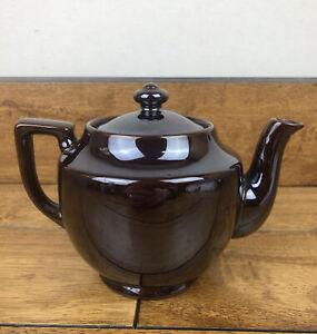 Vintage Brown Lusterware Tea Pot Dark Brown Made in Japan