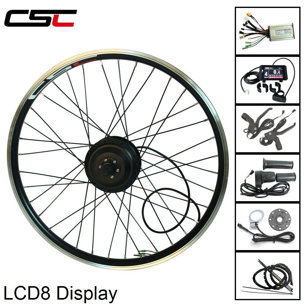 Elektrisk utrustning för ombyggnad av cyklar för visning av bakre motorn 36V 500W