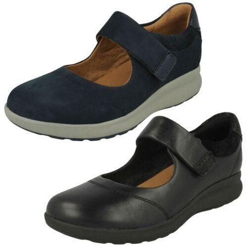 Ladies  Clarks Casual, Flat Mary Jane scarpe Style A Decorative Strap  promozioni di squadra