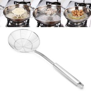 Details About Stainless Steel Solid Spider Strainer Skimmer Ladle Kitchen  Utensil Tool