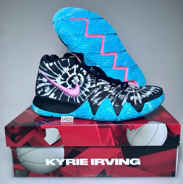 buy popular fc947 b5466 Nike Kyrie Irving 4 All Star Tie Dye AQ8623-001 Black White Purple Blue Pink