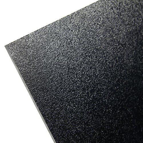 """HDPE High Density Polyethylene Plastic Sheet 1//2/"""" x 12/"""" x 24/"""" Black Textured"""