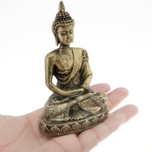 4 pouces petite Statue de bouddha thaïlandaise Figurine grès décoration maiso