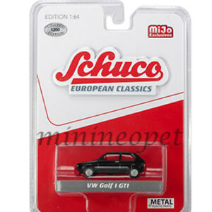 SCHUCO-9100-EUROPEAN-CLASSICS-VW-VOLKSWAGEN-GOLF-I-GTi-1-64-BLACK