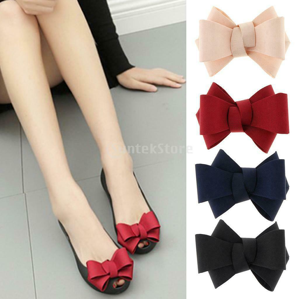 1 Pair Bowknot Shoe Clip Craft Applique Decoration for High Heel Sneakers