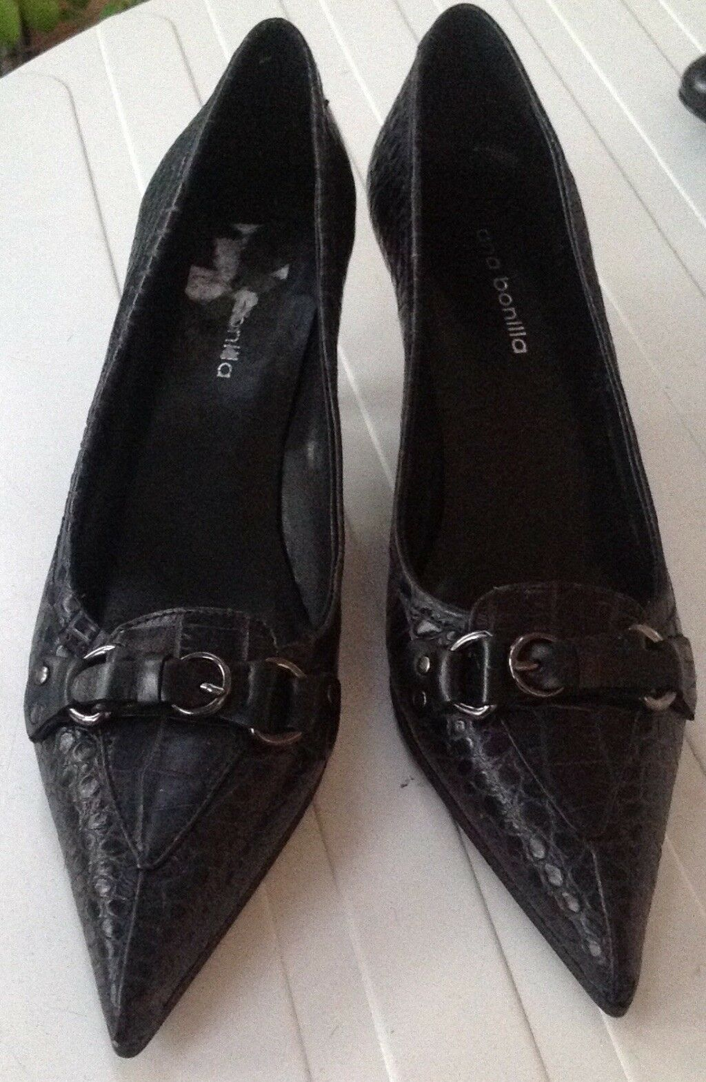 Escarpins cuir noir femme 39